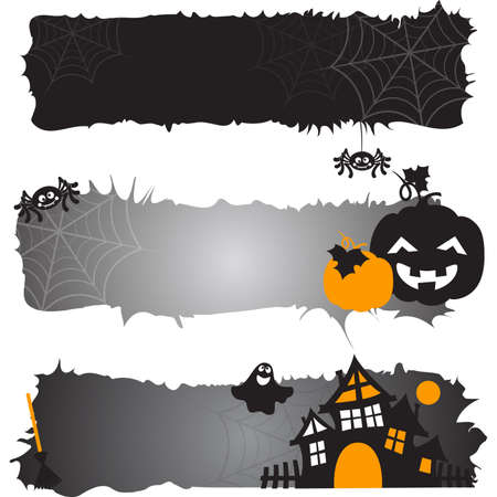 Halloween horizontal banners. Vector