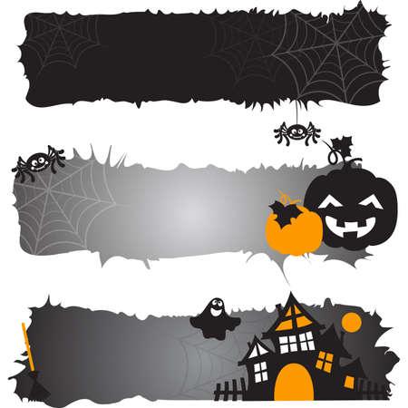 horizontal: Halloween horizontal banners.