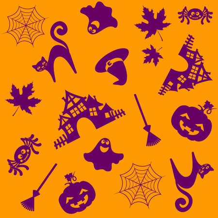 halloween pattern. Vector