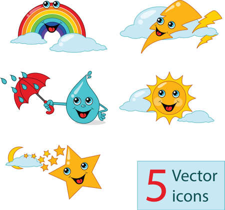 icon weather lovely nurseries. Vector illustration Vector