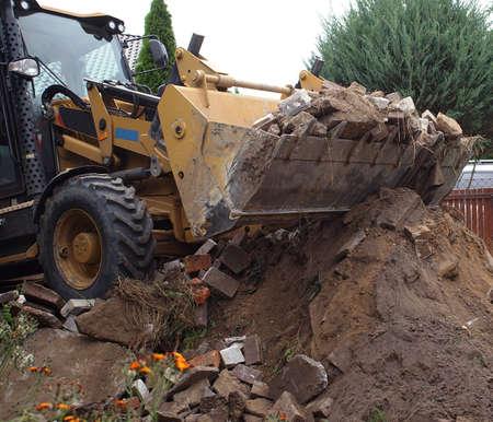 construction works - demolition of the old yard in village Archivio Fotografico