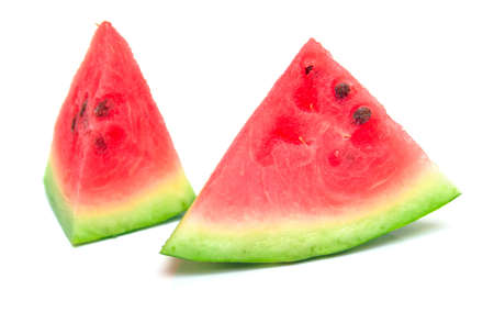 epicure: watermelon on the white. Isolation. Stock Photo