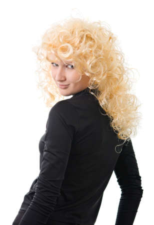 An effective blonde on a white background Stock Photo - 4100191
