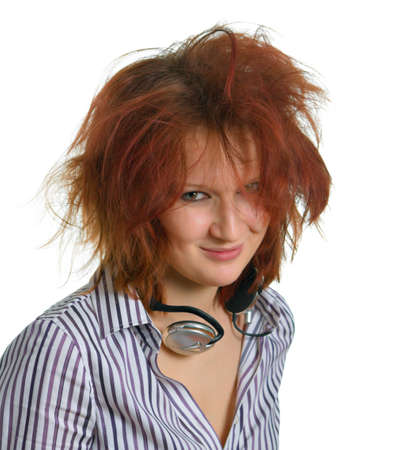 choleric: Girl with headphones, which looks like EMO.