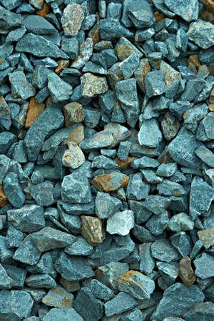 heterogeneous: Blue gravel. High detailed background.