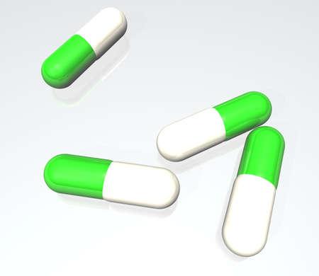 Medicine for the reception inside. 3D render.
