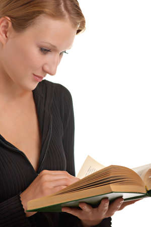 young beautiful girl with a book in her hands