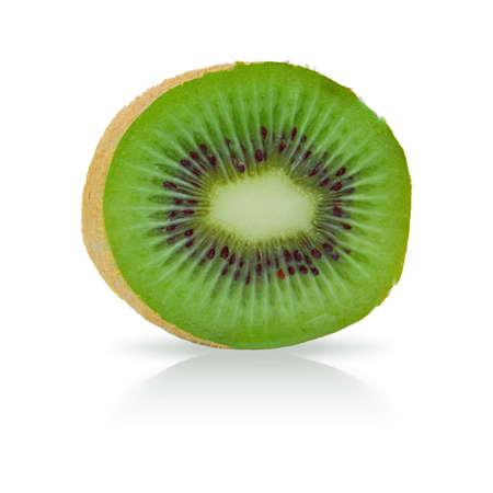 ripe kiwi fruit on white background