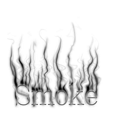 smolder: smoke, smoldering on a white background