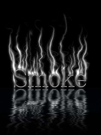 smolder: smoke, smoldering on a black background Stock Photo