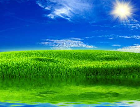 Schönen Hintergrund zum Thema gutes Wetter