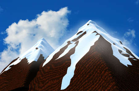 impregnable: The mountains covered with snow Stock Photo