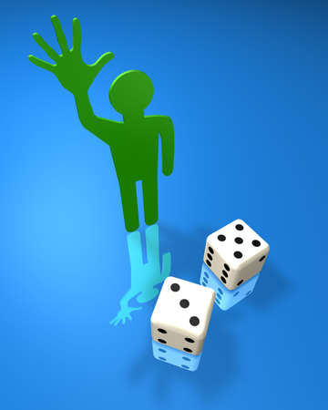 Abstract illustration with the image of gambling Stock Illustration - 5973191