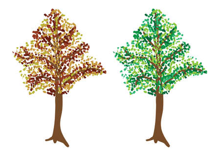 specificity: illustration depicting the tree in two colors Illustration