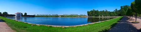 Landscape in Peterhof. Peterhof - the great museum of Russian culture since Peter the Great.