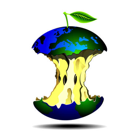 illustration for environment protection theme with earth Vector