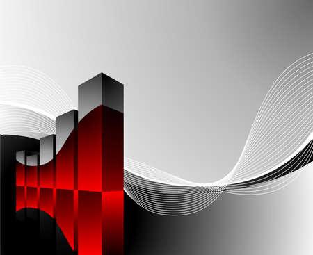 desgn: diagram illustration with wave on dark background