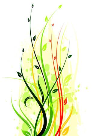 spring  illustration with floral motive on grunge background Stock Vector - 7221855
