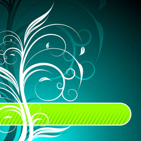 floral background with text space. Vector