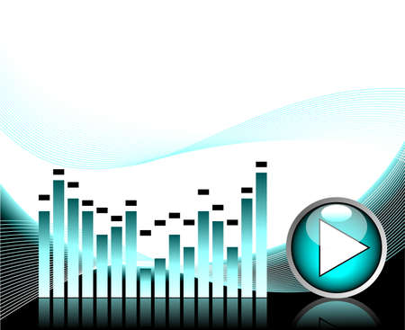 illustration for musical theme with play button Vector