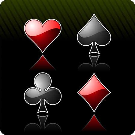 brincolin: Ilustración con elementos de casino de juegos de azar  Vectores