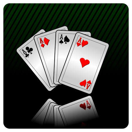 lasvegas:  casino illustration with cards