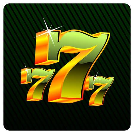 sept: illustration avec des �l�ments de casino de jeu.