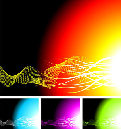 beuty: abstract background illustration with four color variation