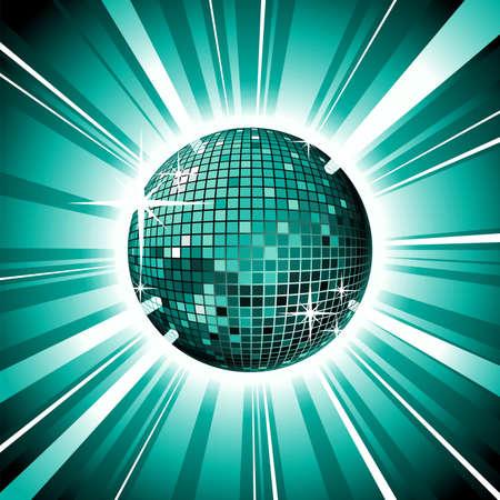 music illustration with shiny disco ball. illustration