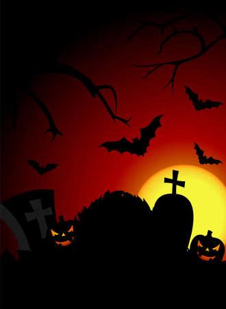 illustration on a Halloween theme with pumpkin Stock Illustration - 7292028