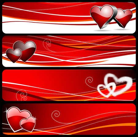 wallpapper: Quattro banner grafico con la figura di Valentino
