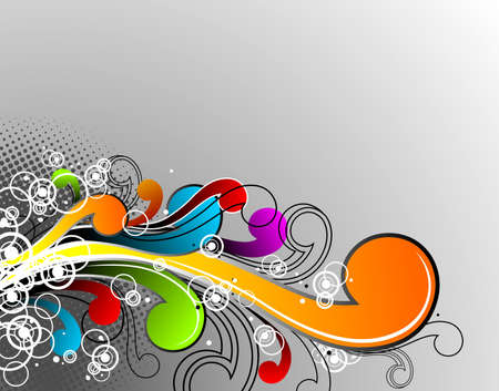 Abstract colorful grunge elements on light background. Vector