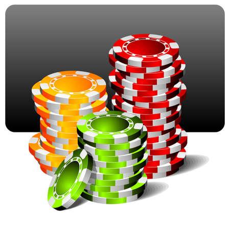 brincolin: Ilustración con fichas de póquer de juegos de azar