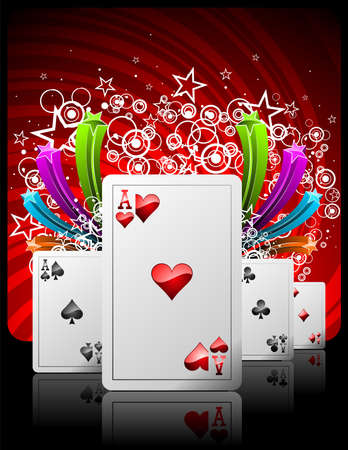 lasvegas:  illustration on a casino theme with playing cards. Illustration