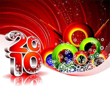 Happy New Year illustration for 2010. Stock Vector - 7473447