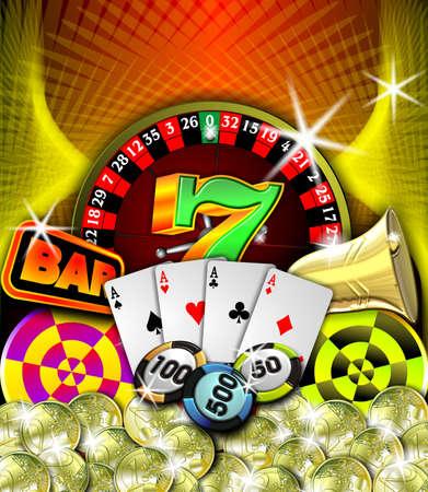toke: beauty casino illustration