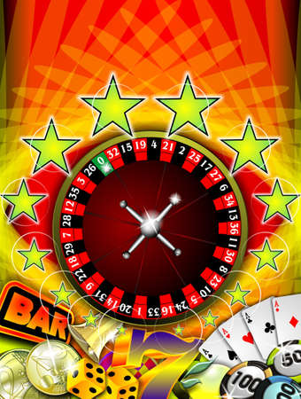 toke: casino illustration with roulette