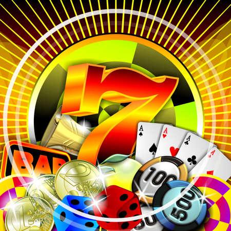 lasvegas: casino illustration Stock Photo