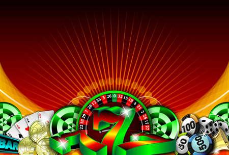 lasvegas: gambling illustration with casino elements