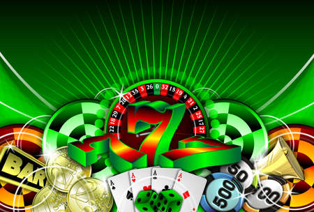 gambling illustration with casino elements Zdjęcie Seryjne - 7896678