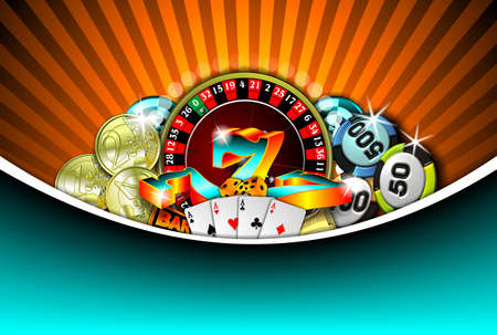gambling illustration with casino elements Zdjęcie Seryjne - 7896669