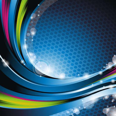 Abstract wave   background. Vector