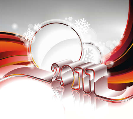 Vector Happy New Year 2011 design Ilustracja