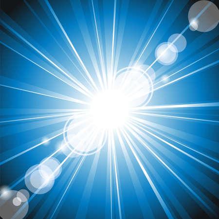 schittering: Vector kleur vleug van lichten explosie met lens glans effect. Stock Illustratie