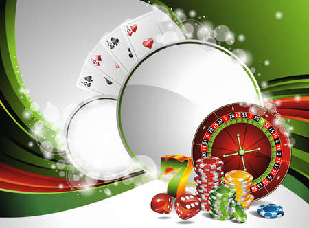 Vector gambling illustration with casino elements Ilustracja