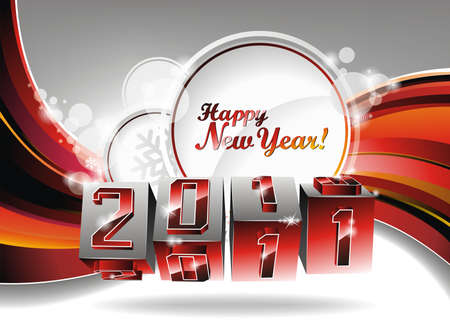 Happy New Year design. Vector