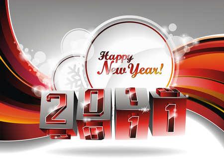 Happy New Year design. Vector