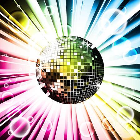 Vector abstracta fondo brillante con bola de disco.