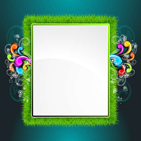 background design on a spring and nature theme with abstract floral design. Vector