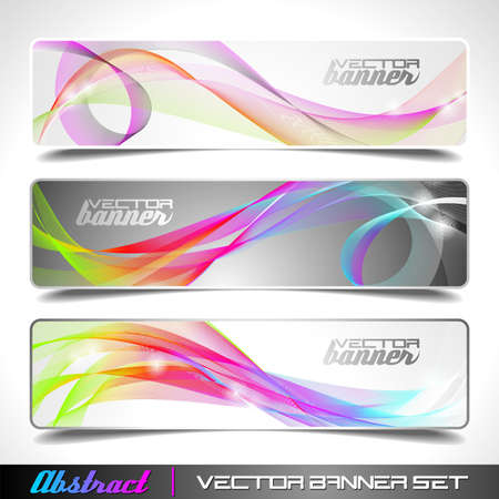 header image: Three abstract vector banner background Illustration
